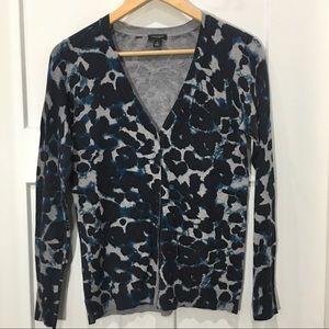 Ann Taylor leopard cardigan size medium